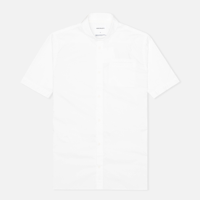 Мужская рубашка Norse Projects Aaron Crisp Poplin SS White
