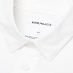 Мужская рубашка Norse Projects Aaron Crisp Poplin SS White фото- 2