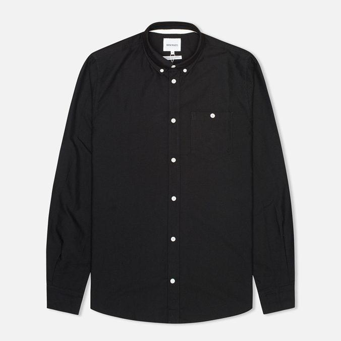 Мужская рубашка Norse Projects Anton Oxford LS Black