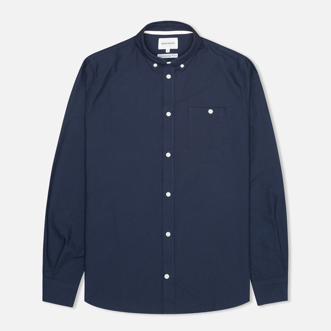 Мужская рубашка Norse Projects Anton Oxford LS Dark Navy