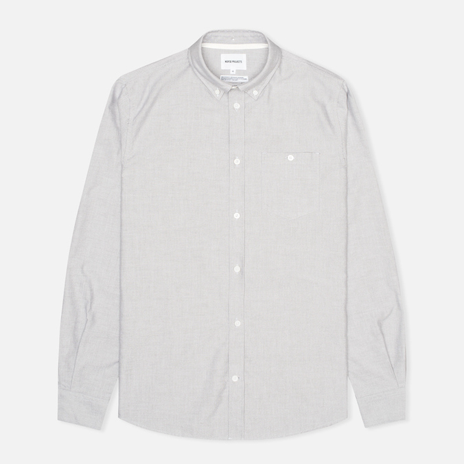 Мужская рубашка Norse Projects Anton Oxford LS Light Grey
