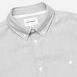 Мужская рубашка Norse Projects Anton Oxford LS Light Grey фото- 1