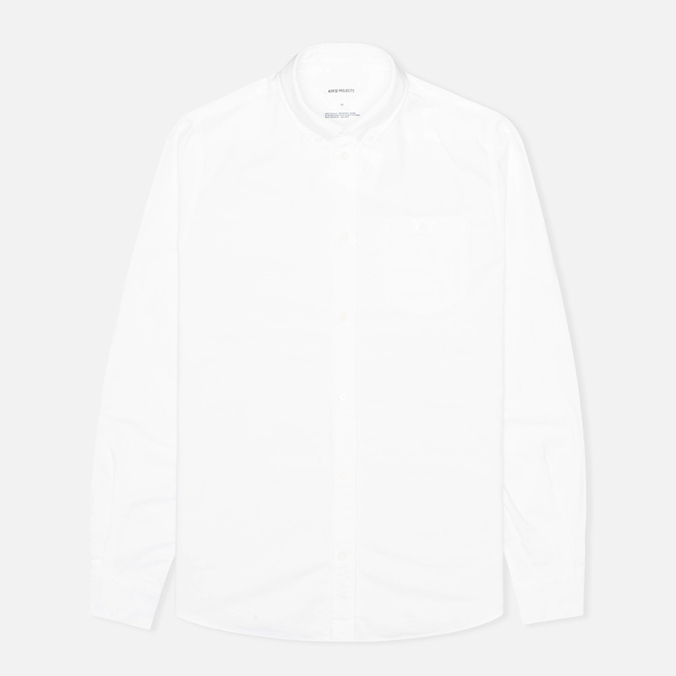 Мужская рубашка Norse Projects Anton Oxford LS White