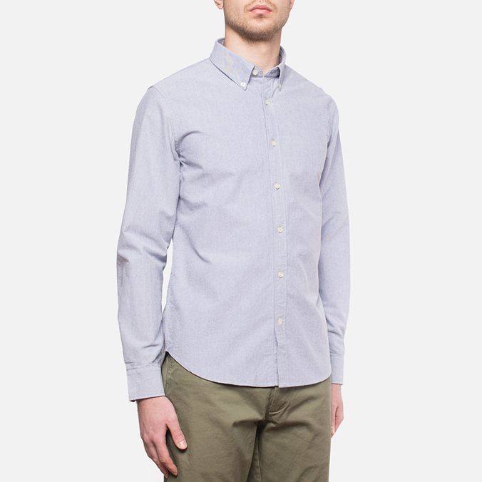 Velour Common Brushed Oxford Navy/Offwhite