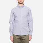 Velour Common Brushed Oxford Navy/Offwhite photo- 5