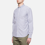 Velour Common Brushed Oxford Navy/Offwhite photo- 1