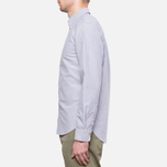 Velour Common Brushed Oxford Navy/Offwhite photo- 2