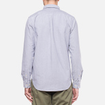 Velour Common Brushed Oxford Navy/Offwhite photo- 4