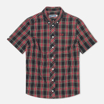 Женская рубашка Fred Perry Laurel Button Down Tartan Short Sleeve Black фото- 0