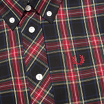 Женская рубашка Fred Perry Laurel Button Down Tartan Short Sleeve Black фото- 2