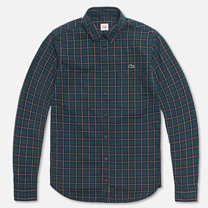 Женская рубашка Lacoste Live Plaid Green/Navy
