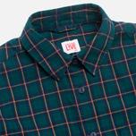 Женская рубашка Lacoste Live Plaid Green/Navy фото- 1