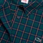 Женская рубашка Lacoste Live Plaid Green/Navy фото- 2