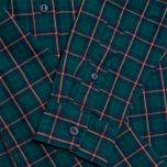 Женская рубашка Lacoste Live Plaid Green/Navy фото- 3