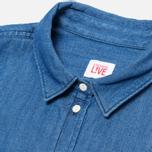 Женская рубашка Lacoste Live Shirt Blue Denim фото- 1
