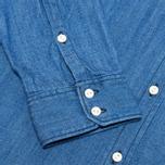 Женская рубашка Lacoste Live Shirt Blue Denim фото- 3