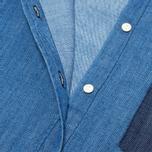 Женская рубашка Lacoste Live Shirt Blue Denim фото- 4