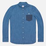 Женская рубашка Lacoste Live Shirt Blue Denim фото- 0