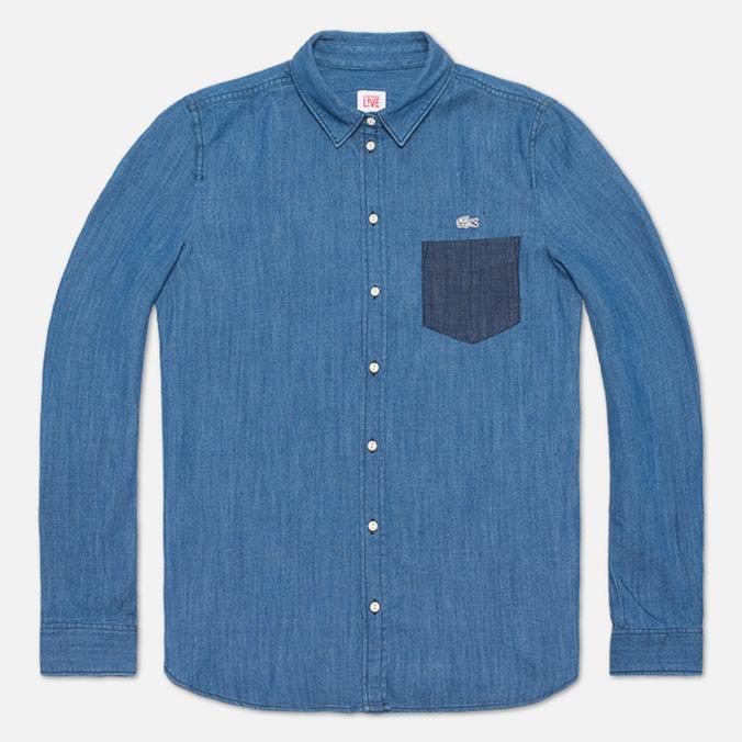Женская рубашка Lacoste Live Shirt Blue Denim