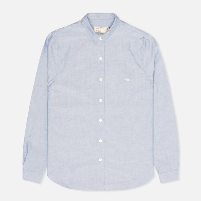 Женская рубашка Maison Kitsune Embroidery Fox Classic Navy