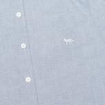 Женская рубашка Maison Kitsune Embroidery Fox Classic Navy фото- 2