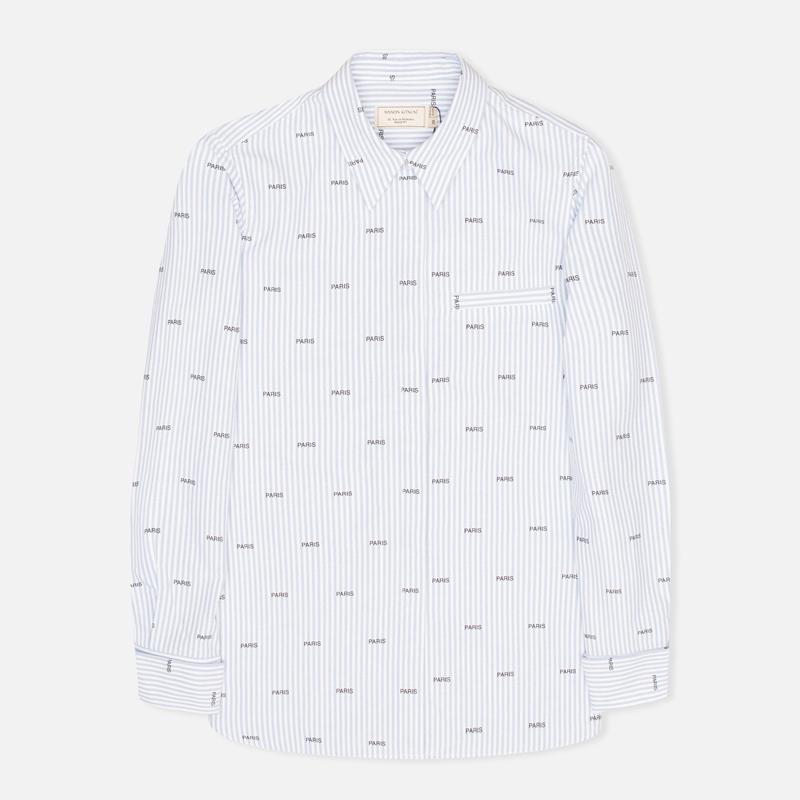 Женская рубашка Maison Kitsune Paris Joe Blue Stripe