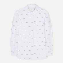 Женская рубашка Maison Kitsune Paris Joe Blue Stripe фото- 0