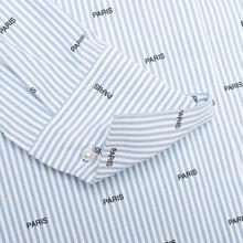 Женская рубашка Maison Kitsune Paris Joe Blue Stripe фото- 4