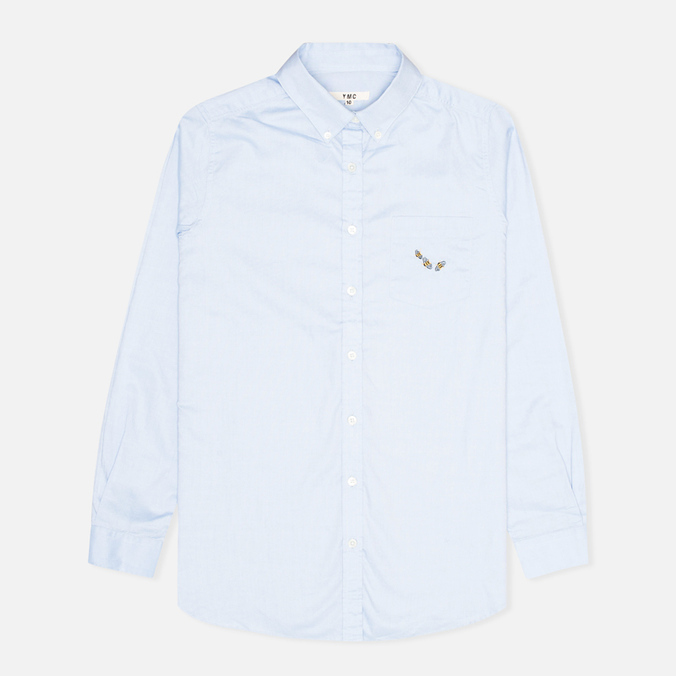 Женская рубашка YMC Embroidered Oxford Lt Blue