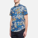 Мужская рубашка Woolrich Bruce Hawaiian Maritime Royal фото- 1