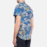 Мужская рубашка Woolrich Bruce Hawaiian Maritime Royal фото- 4