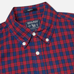 Woolrich Madras Long Sleeve Men's Shirt Coral Red photo- 1