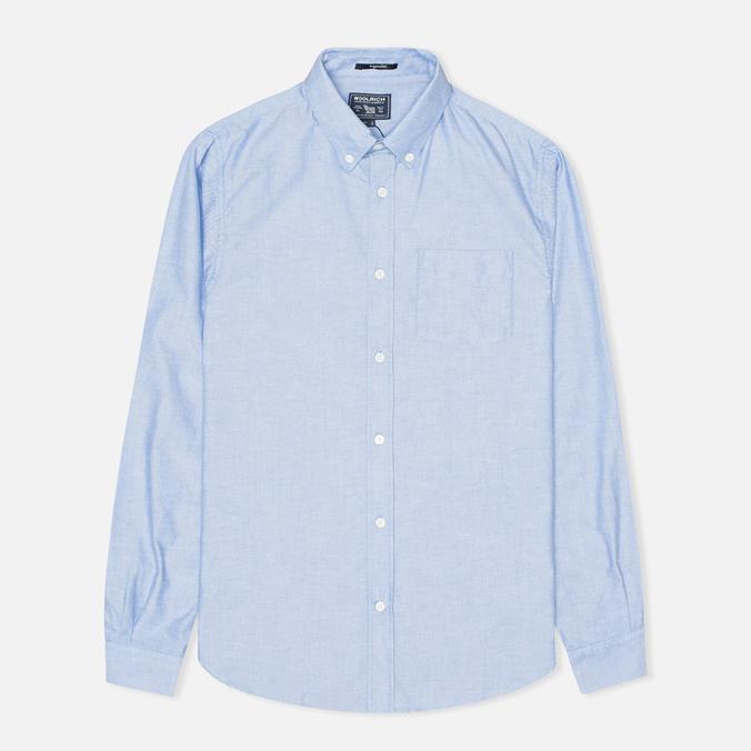 Мужская рубашка Woolrich Oxford Pocket Blue