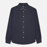 Мужская рубашка Woolrich Popeline Pocket Navy фото- 0