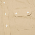 Мужская рубашка Woolrich Woolen Mills 3 Pocket Button Down SS Khaki фото- 2