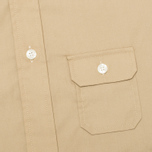 Мужская рубашка Woolrich Woolen Mills 3 Pocket Button Down SS Khaki фото- 3
