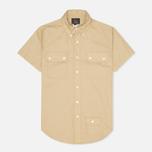 Мужская рубашка Woolrich Woolen Mills 3 Pocket Button Down SS Khaki фото- 0