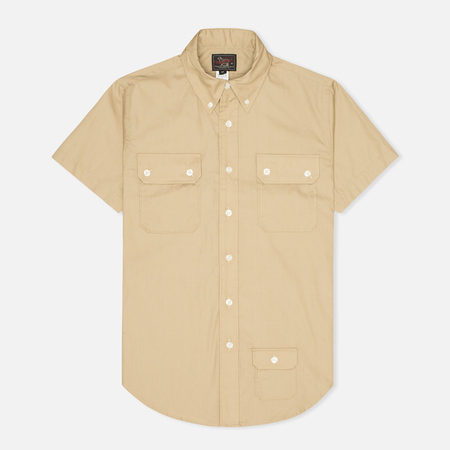 Мужская рубашка Woolrich Woolen Mills 3 Pocket Button Down SS Khaki