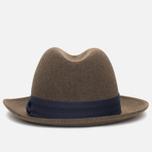 The Hill-Side Indigo Panama Cloth Band Hat Brown photo- 2