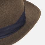 The Hill-Side Indigo Panama Cloth Band Hat Brown photo- 4