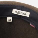 The Hill-Side Indigo Panama Cloth Band Hat Brown photo- 6