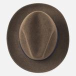The Hill-Side Indigo Panama Cloth Band Hat Brown photo- 3