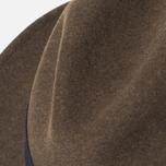 The Hill-Side Indigo Panama Cloth Band Hat Brown photo- 5