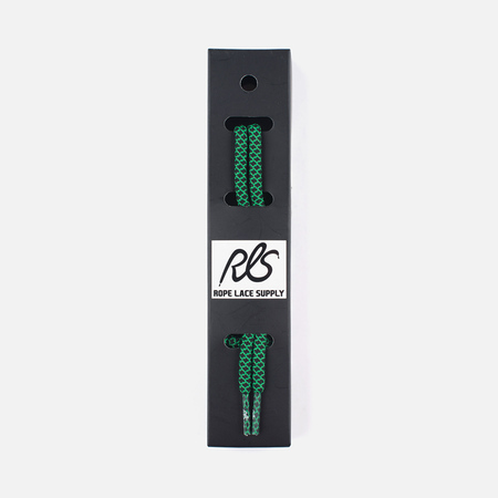 Rope Lace Supply Rope Laces Black/Green
