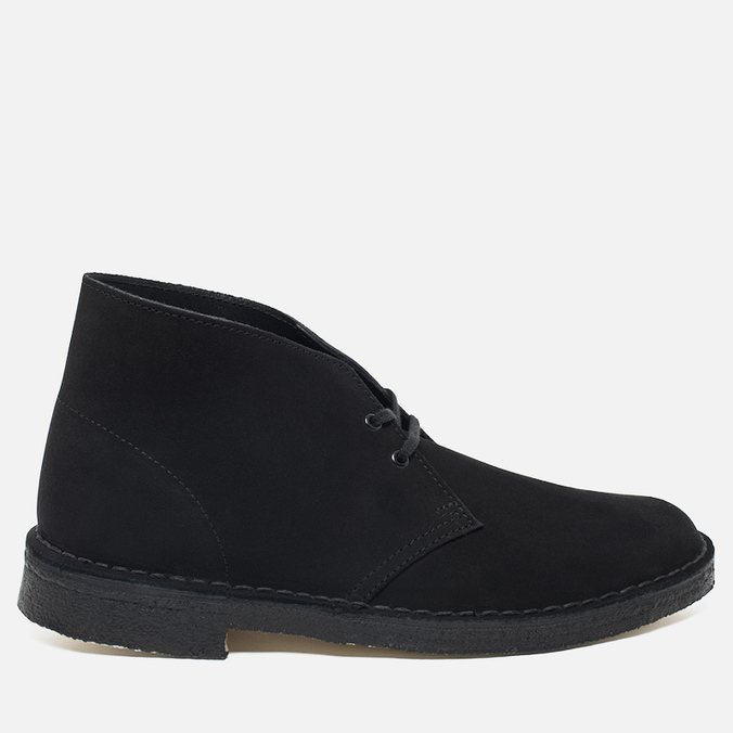 Clarks Originals Desert Boot Men's Shoes Black Suede