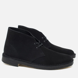 Clarks Originals Desert Boot Men's Shoes Black Suede photo- 1