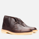 Мужские ботинки Clarks Originals Desert Boot Brown Tumbled Leather фото- 1