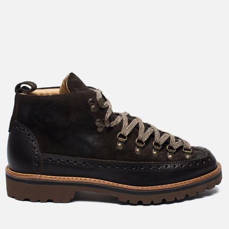 Fracap M130 Scarponcini Suede Men's shoes Dark Brown/Roccia Brown