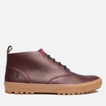 Fred Perry Bramhall Mid Shoes Oxblood photo- 0