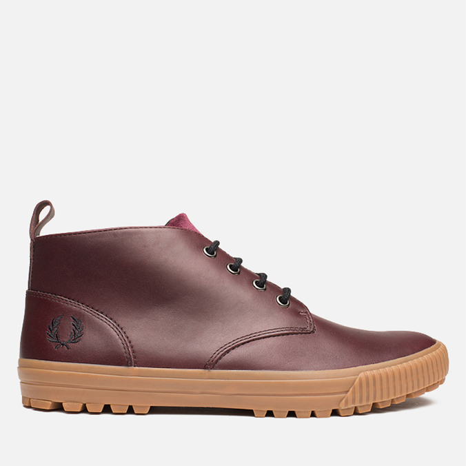 Fred Perry Bramhall Mid Shoes Oxblood